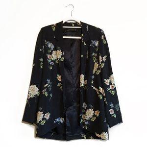 ✨ Zara Floral Oversized Open Blazer ✨